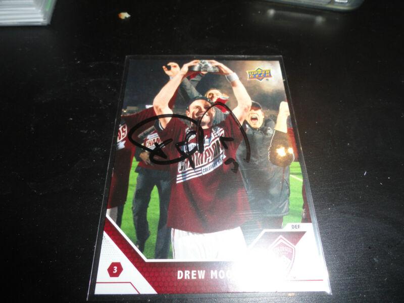 Colorado Rapids Drew Moor Autographed Signed 2011 Upper Deck MLS Card