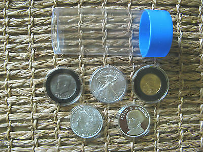 3 Airtite Coin Holders Cap-Tube Tite-2 for Model-H  Silver Eagle Dollar Bullion