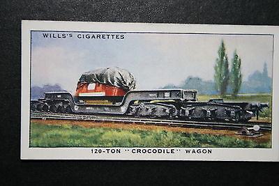 GWR  Crocodile Wagon     Original Vintage Card  VGC