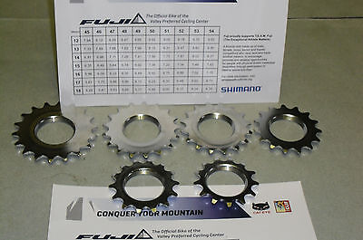 """FIXED GEAR TRACK COG SET 12T-19T CHROME PLATE 1//8/"""" INCH 8pc"""
