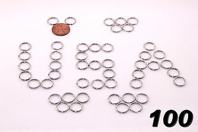 "Stainless Steel Key Rings 1/2"" (12mm) Split Ring, Wholesale LOT 100"