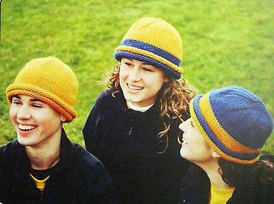 - SCHOOL COLORS HAT & SCARF to KNIT in SPORT WORSTED or BULKY WEIGHT YARNS