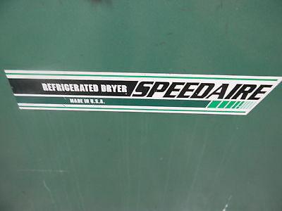 Speedaire Refrigerated Dryer Dayton Electric