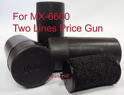 3 Price Gun Labeler Labeller Refill Ink Rolls For Mx 6600 18mm
