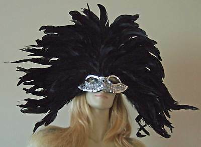 Venetian Mask Mardi Gras SILVER SENSATION Elaborate  Masquerade Prom Party  - Elaborate Mardi Gras Masks