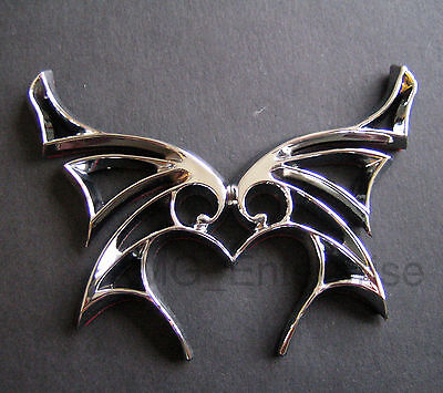 Self Adhesive Chrome Effect Butterfly Badge for Peugeot 107 206 207 307 308 GTi