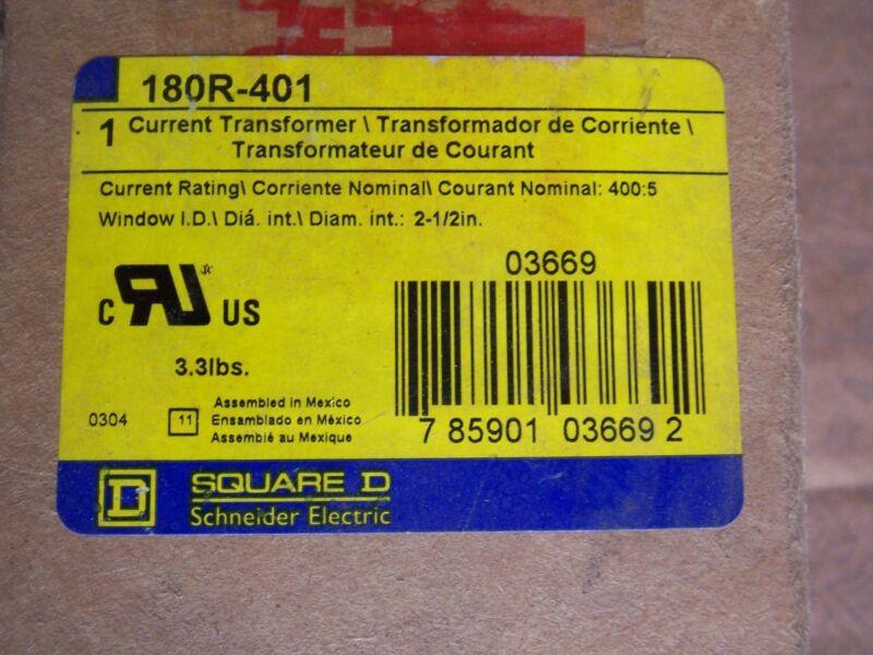 Square D Current Transformer 180R-401 Current Rating 400:5