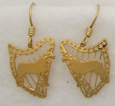 Irish Wolfhound Jewelry Dangle Earrings by Touchstone - Irish Wolfhound Earrings