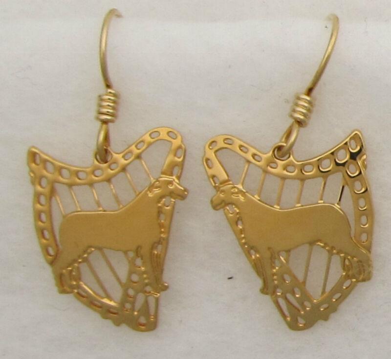 Irish Wolfhound Jewelry Dangle Earrings by Touchstone