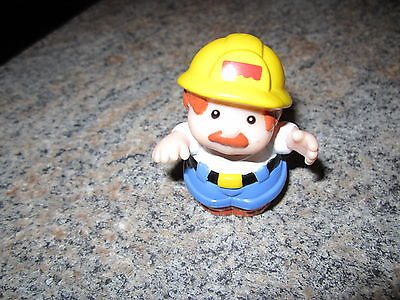 Fisher Price Little People Man Dad construction mechanic worker city village boy - Village People Construction Worker