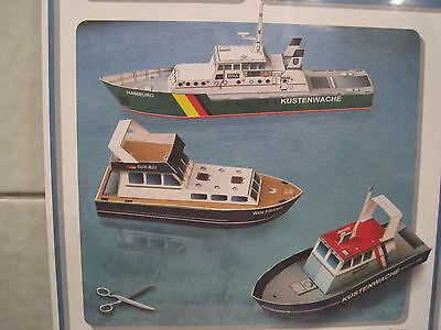 3 kleine Schiffe Kartonbausatz *NEU* Bastelbogen