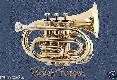 Pocket Trumpet Poster//Musical Instrument//Trumpet//Band