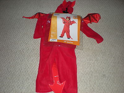 Boys Devil California Costume Halloween Toddler Size  3T - 4T  Childrens New  (Devil Costume For Boys)