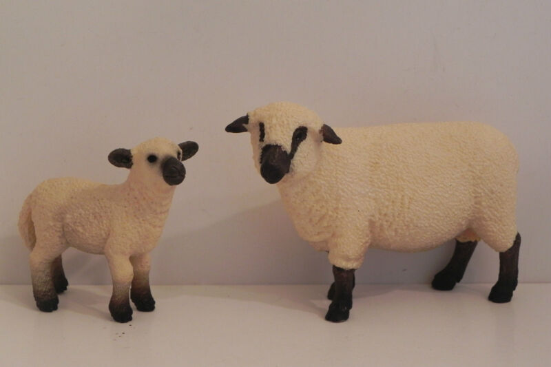 Retired Schleich Sheep Lamb Figurine Nativity Scene Presepio Ovejas Pesebre