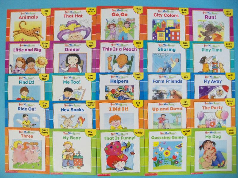 Sight Word Readers Childrens Books Lot 25 and BONUS FULL SIZE TEACHING GUIDE