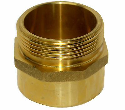 Nni Fire Hose Hydrant Adapter Brass Hex 2-12 Nstm X 2-12 Nptf