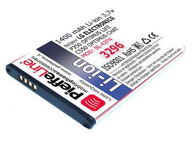 per LG P350 OPTIMUS LIFE C550 OPTIMUS CHAT Batteria Li-ion 1400 mAh