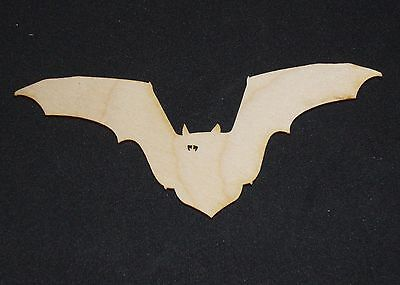 Vampire Bat Shape Flat Unfinished Wood Cut Outs Craft Variety Sizes DB1269 (Bat Cut Outs)