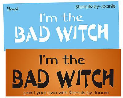 ncil Bad Witch Holiday Seasonal Fall Prim Craft Signs (Halloween Bad Sign)