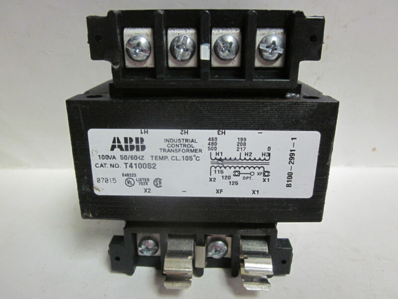 * ABB  INDUSTRIAL CONTROL TRANSFORMER CAT No. T4100S2            YG-76