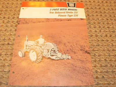 Oliver Tractor No. 351 356 3 Point Hitch Mowers Dealers Brochure