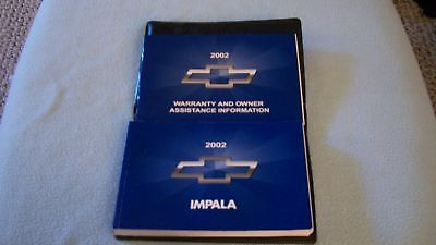 2002 Chevrolet Impala Owners Manual with binder