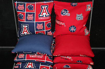 - CORNHOLE BEANBAGS made w ARIZONA WILDCATS Fabric 8 ACA Reg Bags