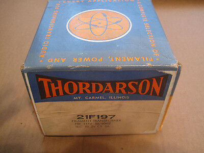 Thordarson 21f197 Filament Transformer New In Box 117v 50 Hz