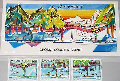 SOMALIA 2001 864-66 Block 76 Skilanglauf Cross Country Skiing Winter Sport MNH
