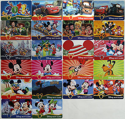 22 Disney Gift Cards 2011-2012:Cars,Toy Story,Halloween,Christmas,Brave,Fairies+ - Disney Halloween Gift Cards