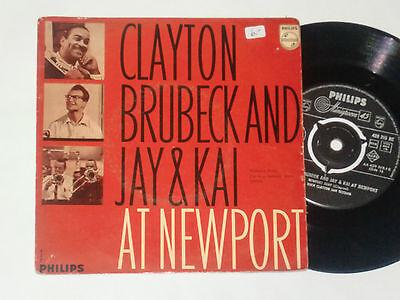 """CLAYTON BRUBECK AND JAY & KAI -At Newport- 7"""""""