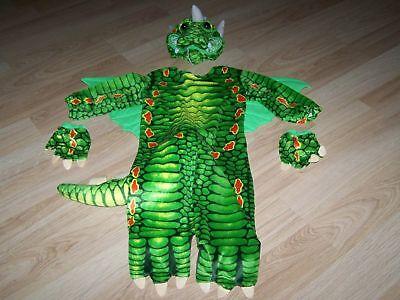 Baby Infant Size 6-12 Months Underwraps Green Lizard Dragon Halloween Costume