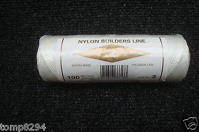 CARDOC 100 METRE SPOOL NYLON BUILDERS BRICK LINE SIZE 3