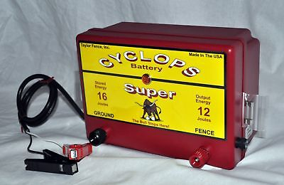 Cyclops Super Battery Powered 12 Joule 12 V Electric Fence Charger Energizer