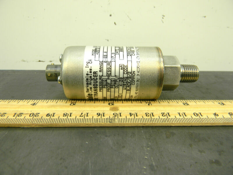 "Barksdale Pressure Transducer 425T2-10 Fits Sensor Gauge Read-out 1/4"" Npt"