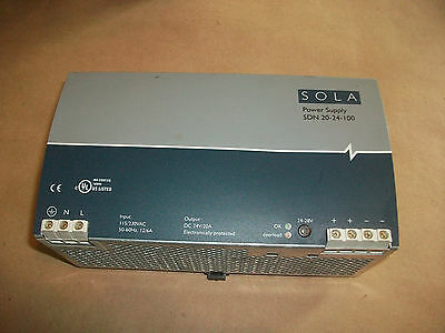 Sola 24vdc Power Supply Sdn20-24-100  20amps