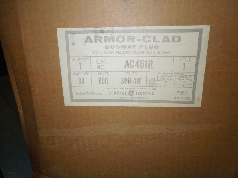 Ge Ac461r Armor Clad Busplug/busway Plug 30a 3ph 4w 600v New Surplus