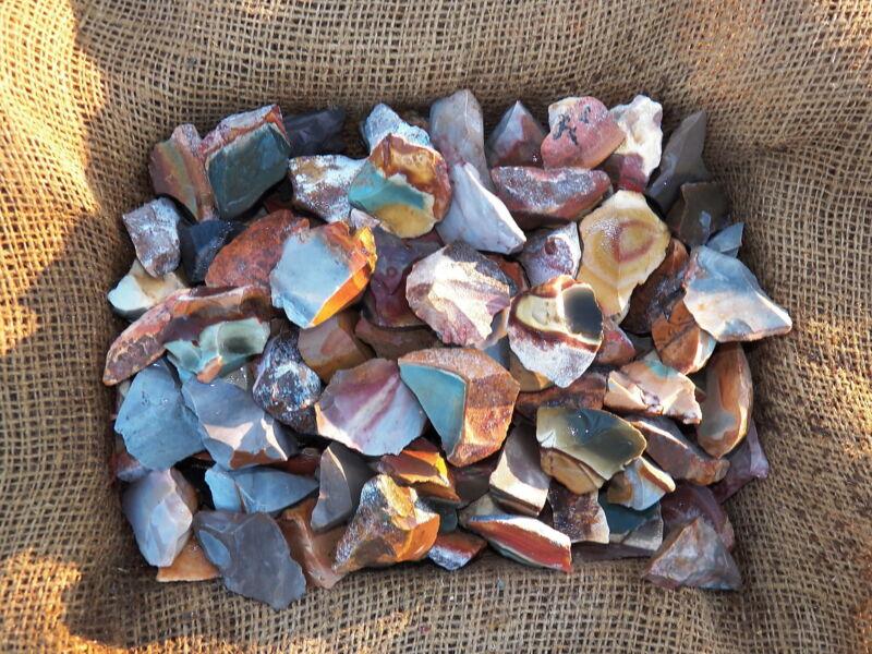 3000 Carat Lots of Desert Jasper Rough - Plus a FREE Faceted Gemstone