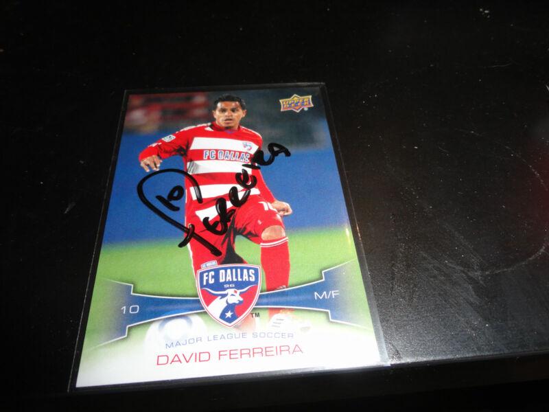 Dallas FC David Ferreira Autographed 2012 Upper Deck MLS Card