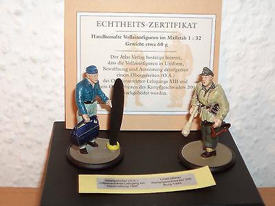 ATLAS Vollzinnfiguren Wehrmacht Obergefreiter 1945/ Unteroffizier 1945 1:32 #151