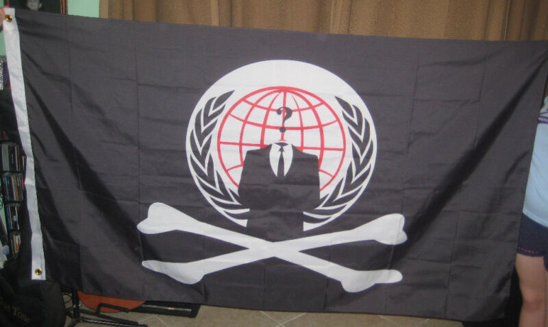 Anonymous Pirate crossbone Flag 5 foot Banner  Anon 4Chan Buy 2 get 1 free