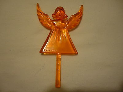Ceramic Christmas Tree Lights, bulbs Star Vintage RARE Orange  Angel SPECIAL ](Angel Christmas Tree)