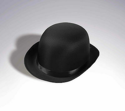 1920S 20'S BLACK SATIN BOWLER DERBY HAT GANGSTER COSTUMES HAT COKE HAT - 1920s Gangsters