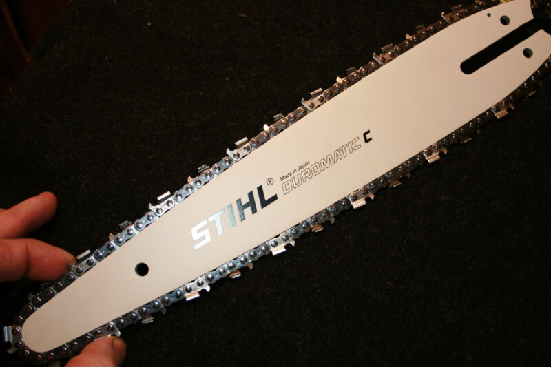 STIHL 12 inch carving kit bar 1/4 pitch with chain and sprocket for MS192T 200T