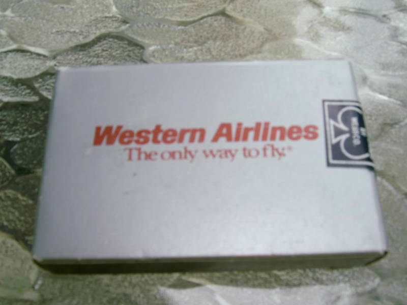 Western Airlines Deck of Cards - NEW - CARDS ARE STILL SEALED
