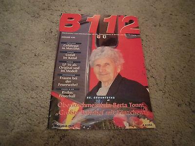 BERLINER FEUERWEHR BF Berlin B 112 Magazin 4/1995 RAR 22 Seiten