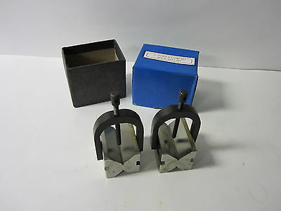 1-12 Capacity Precision V-block Pair W. Clamps H6010c--new