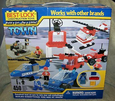 COBI/BEST-LOCK TOWN BUILDING SET 2009 POLICE AND FIRE BUILDING SET 450