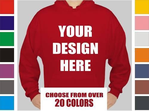 12 Custom Screen Printed Hooded Sweatshirts - Hoody