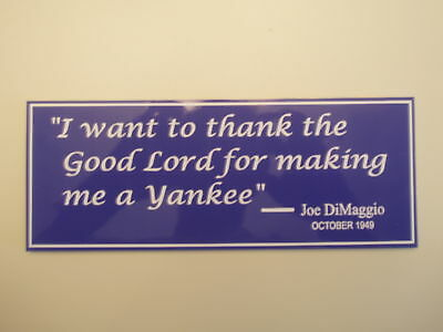 NEW YORK YANKEE STADIUM JOE DiMAGGIO SIGN PHOTO POSTER TICKET JERSEY BAT BALL